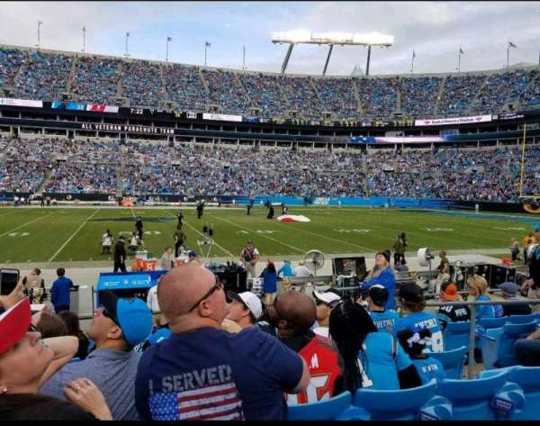 Bank of America Stadium, section: 132, row: 6, seat: 5