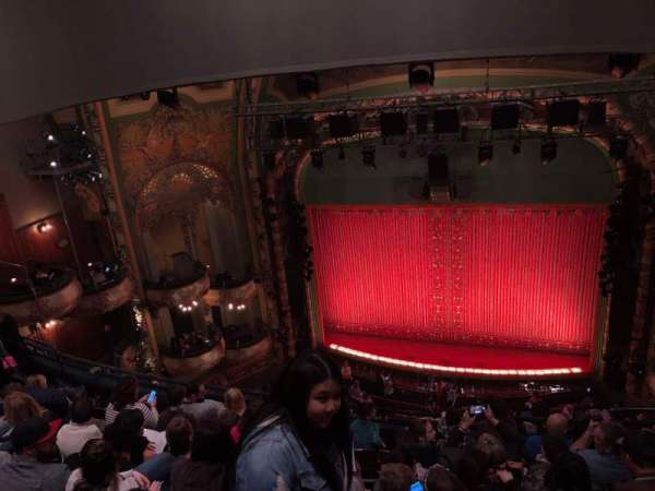 New Amsterdam Theatre, section: BALC, row: G, seat: 103