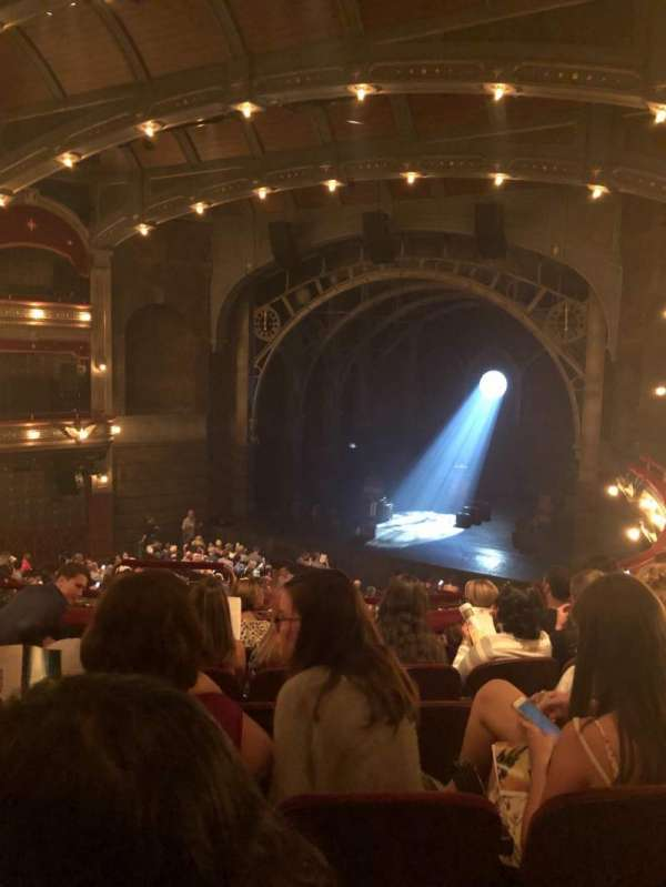 Lyric Theatre, section: Dress Circle R, row: F, seat: 6