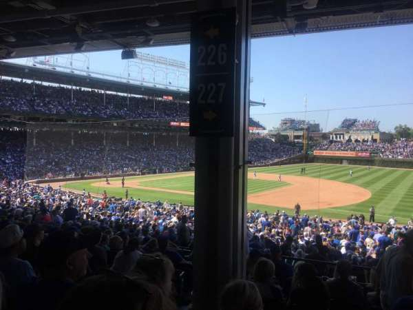 Wrigley Field, section: 227, row: 11, seat: 4