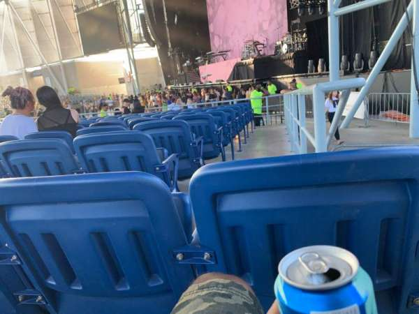 Budweiser Stage, section: 201, row: L, seat: 1