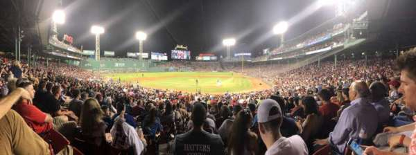 Fenway Park, section: Loge Box 136, row: NN, seat: 1
