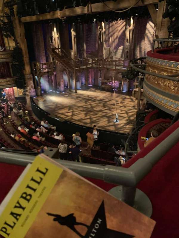 Richard Rodgers Theatre, section: Front Mezzanine R, row: A, seat: 26