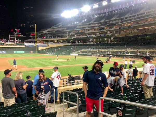 Target Field, section: 17, row: 6, seat: 8