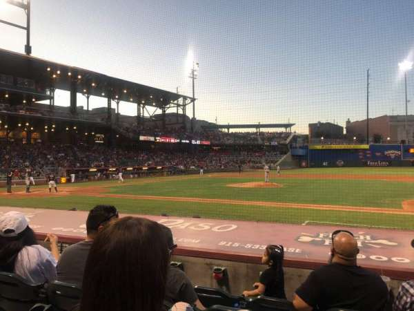 Southwest University Park, section: 107, row: I, seat: 11