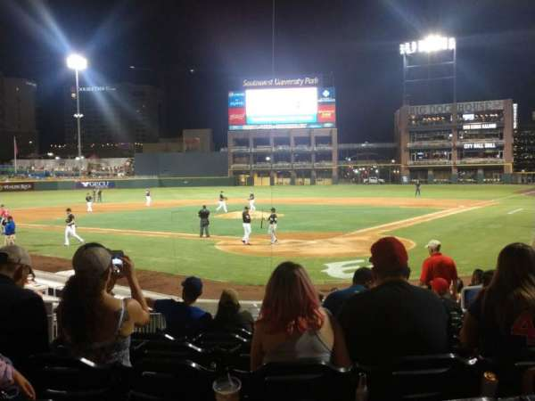 Southwest University Park, section: 113, row: N, seat: 7