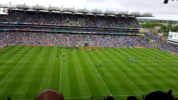 Croke Park , section: Upper Cusack 707, row: T, seat: 31