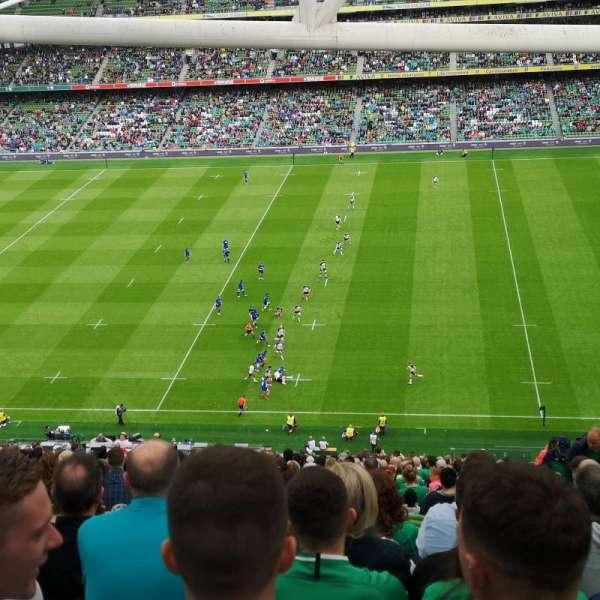 Aviva Stadium, section: 542, row: GG, seat: 18