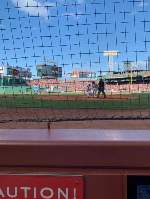 Fenway Park, section: Field Box 48, row: A1, seat: 4