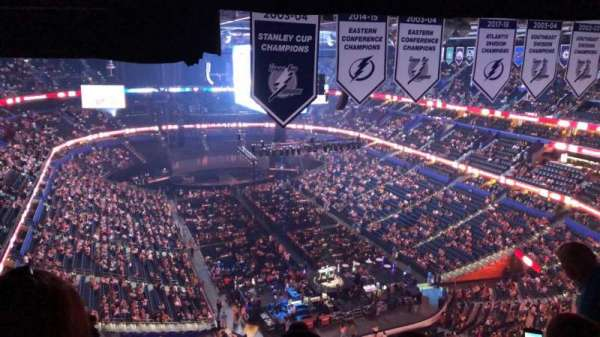 Amalie Arena, section: 310, row: P, seat: 18