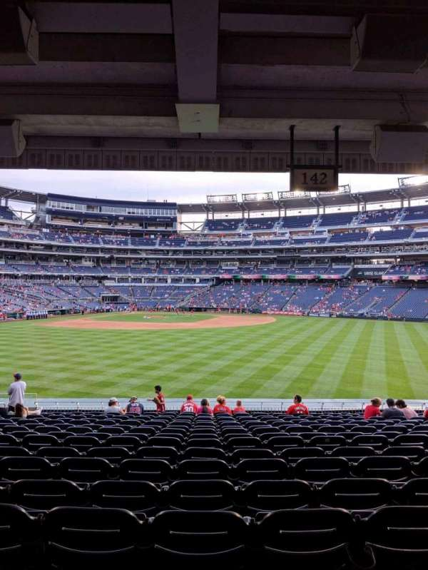 Nationals Park, section: 142, row: T, seat: 18