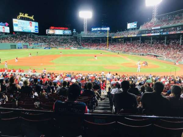 Fenway Park, section: Grandstand 25, row: 3, seat: 9