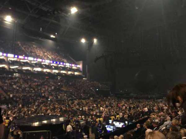 The O2 Arena, section: 109, row: M, seat: 276