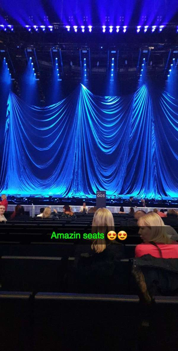 The SSE Hydro, section: 005, row: T