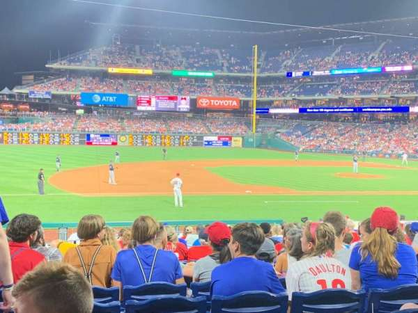 Citizens Bank Park, section: 132, row: 20, seat: 12