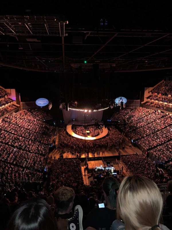 The O2 arena, section: 411, row: M, seat: 696