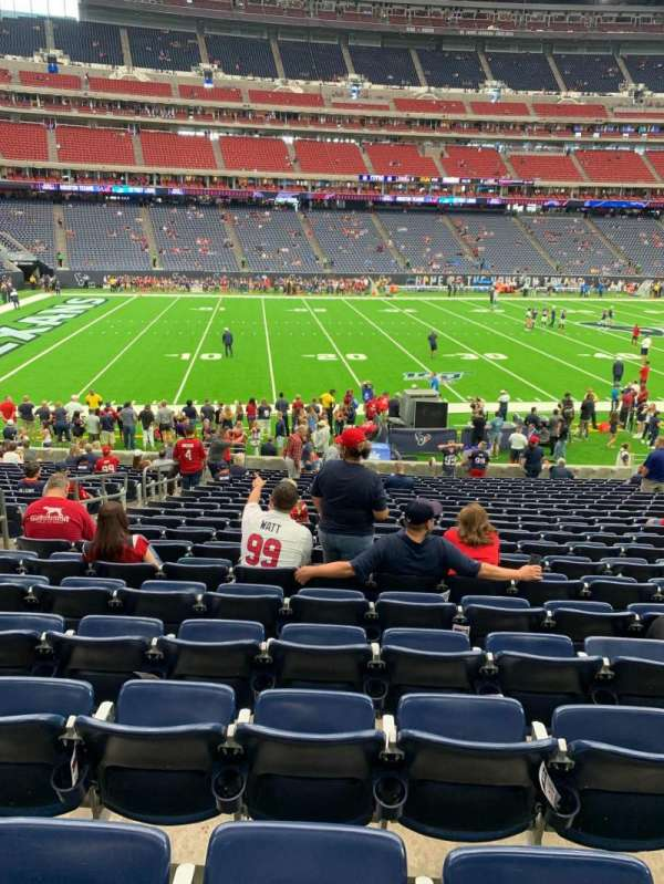 NRG Stadium, section: 109, row: W, seat: 17