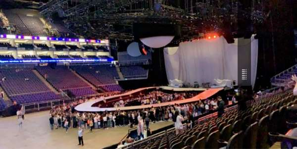 The O2 Arena, section: 110, row: S, seat: 317