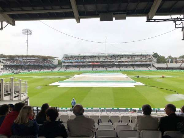 Lord's Cricket Ground, section: Mound stand, row: 22, seat: 9