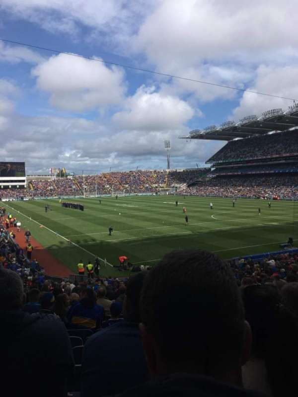 Croke Park , section: 323, row: Hh, seat: 10