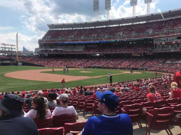 Great American Ball Park, section: 112, row: X, seat: 1