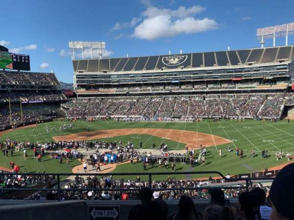 Oakland Coliseum, section: 215, row: 5, seat: 20