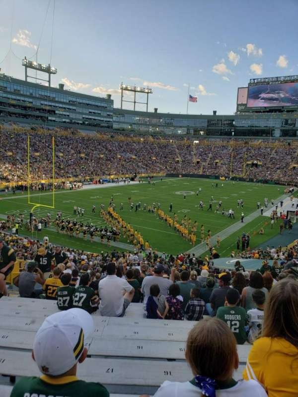 Lambeau Field, section: 133, row: 41, seat: 17