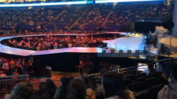 The O2 Arena, section: 113, row: Q, seat: 412