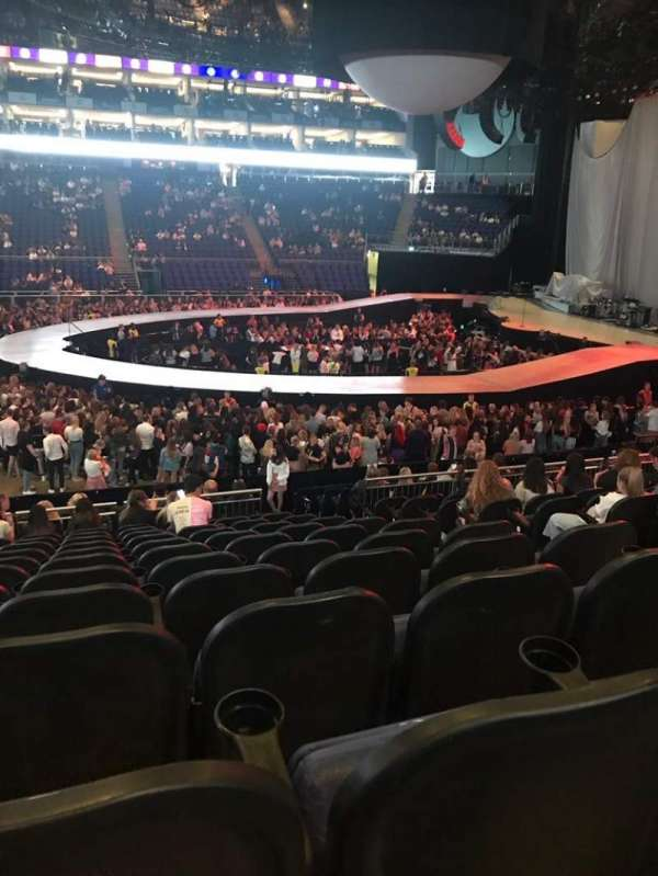 The O2 Arena, section: 111, row: T, seat: 355