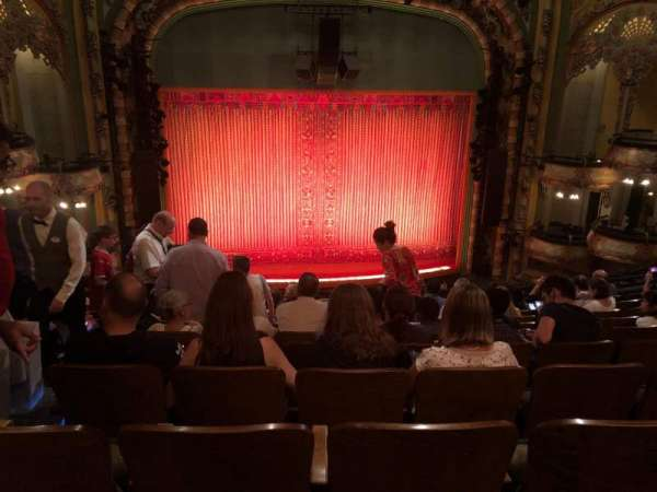 New Amsterdam Theatre, section: mezzanine c, row: KK, seat: 115