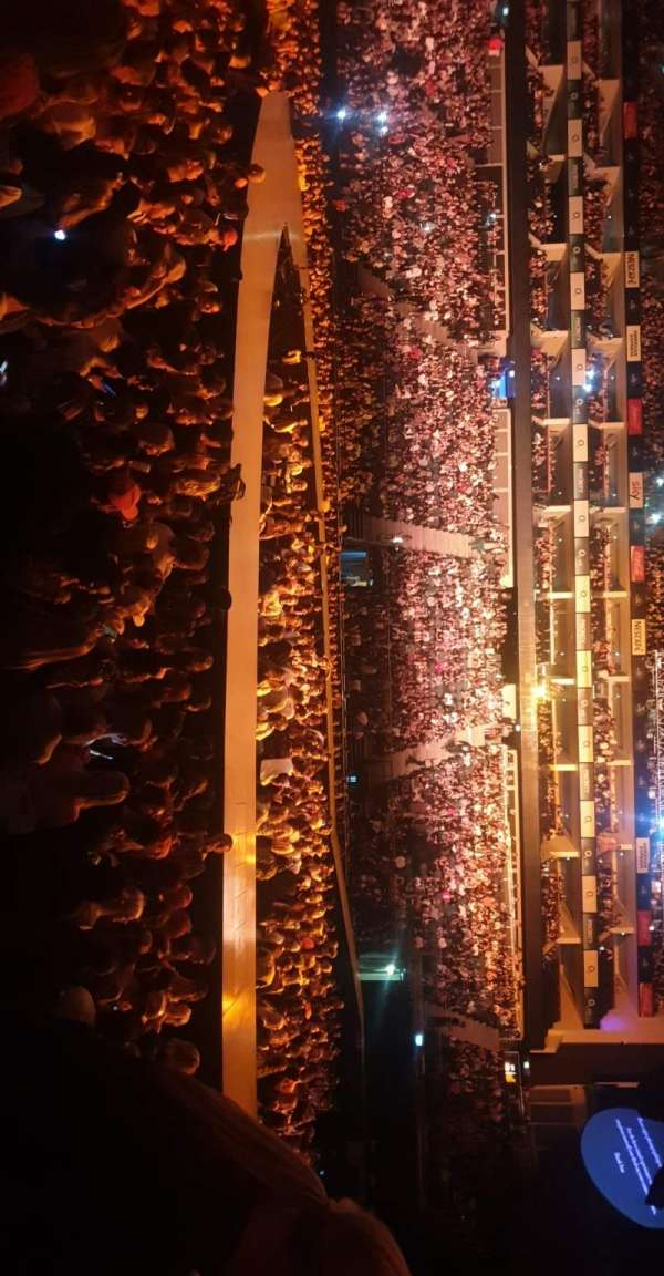 The O2 Arena, section: 112, row: F