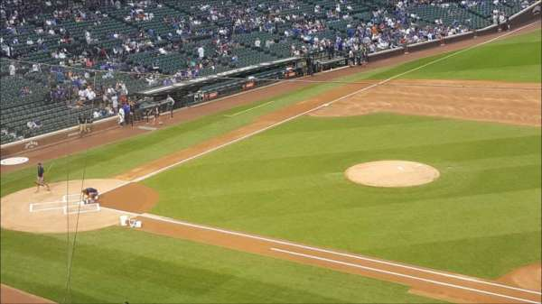 Wrigley Field, section: 326R, row: 1, seat: 8