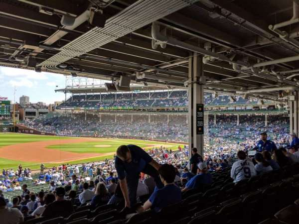 Wrigley Field, section: 208, row: 14, seat: 2-4