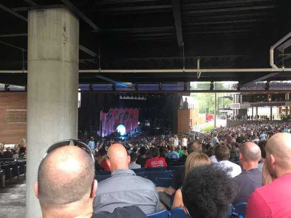 Merriweather Post Pavilion, section: 302, row: Pp, seat: 12