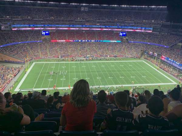 Gillette Stadium, section: 332, row: 23, seat: 15