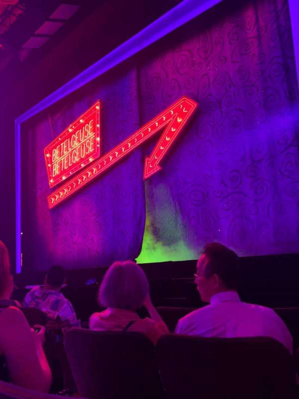Winter Garden Theatre, section: Orchestra R, row: D, seat: 6