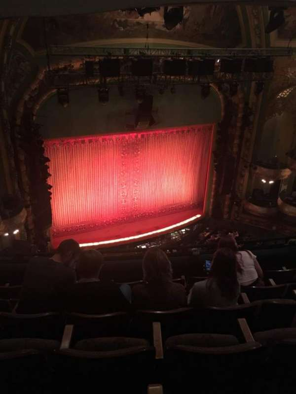 New Amsterdam Theatre, section: Balcony L, row: F, seat: 17
