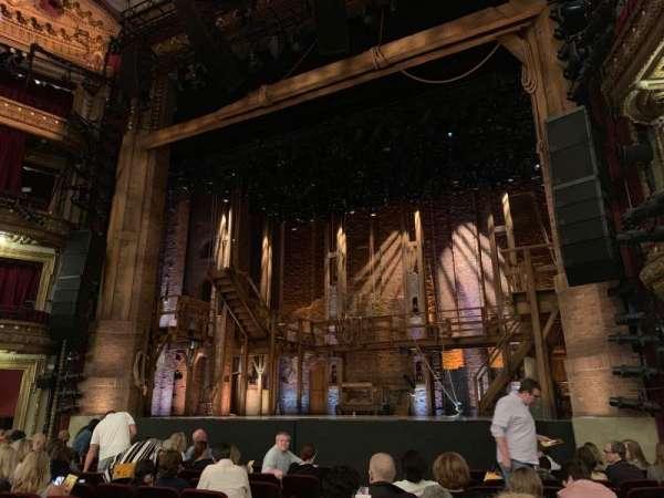 CIBC Theatre, section: Orchestra R, row: L, seat: 8