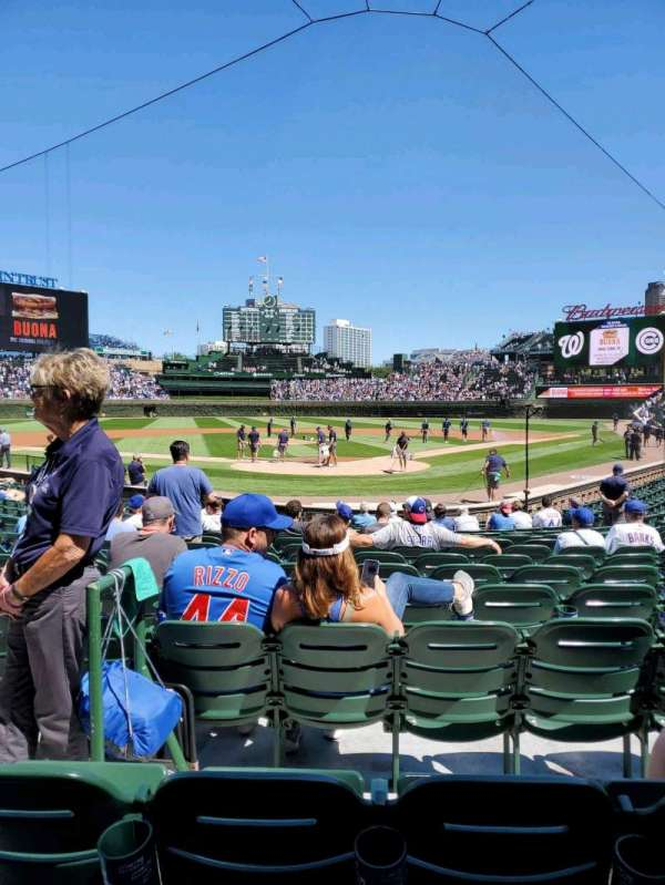 Wrigley Field, section: 117, row: 2, seat: 3