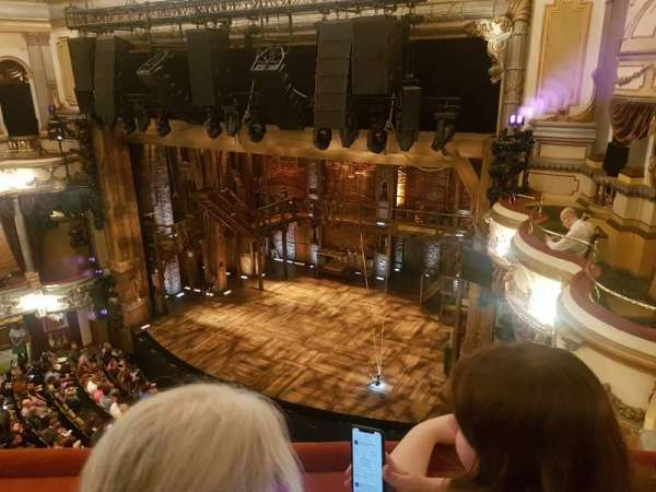 Victoria Palace Theatre, section: Grand circle, row: B, seat: 3