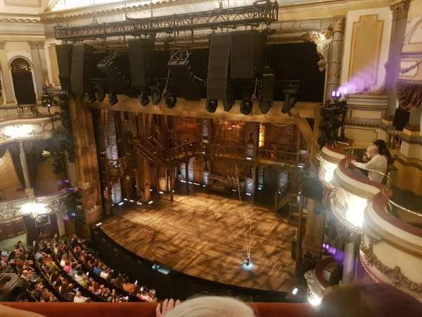 Victoria Palace Theatre, section: Grand circle, row: B, seat: 4