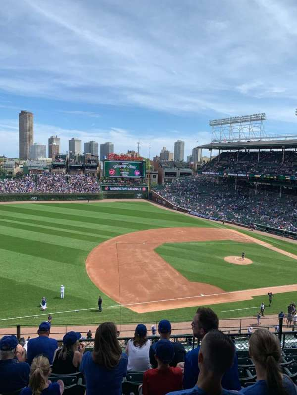 Wrigley Field, section: 308L, row: 7, seat: 13