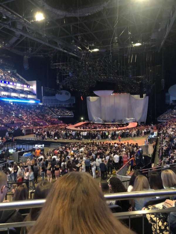 The O2 Arena, section: 108, row: P