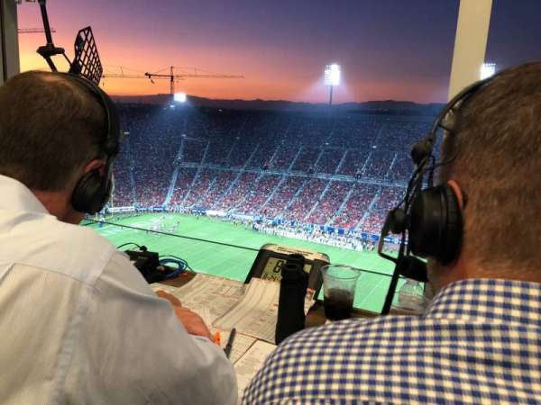 Los Angeles Memorial Coliseum, section: Broadcast Booth