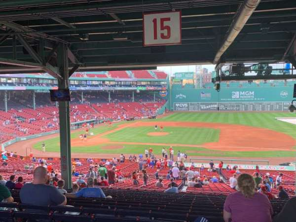 Fenway Park, section: Grandstand 15, row: 19, seat: 11