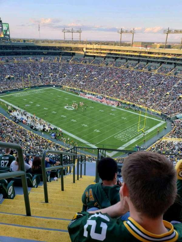 Lambeau Field, section: 734S, row: 11, seat: 1