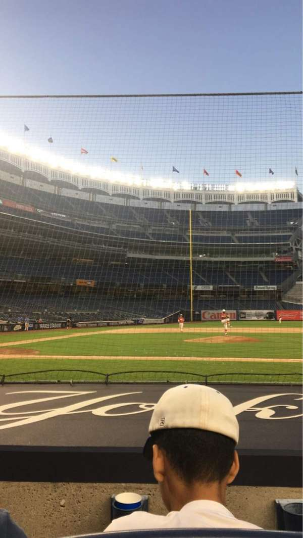 Yankee Stadium, section: 016, row: 2, seat: 3