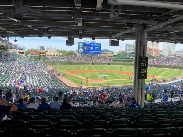Wrigley Field, section: 218, row: 17, seat: 18