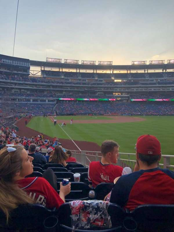 Nationals Park, section: 137, row: CC, seat: 11