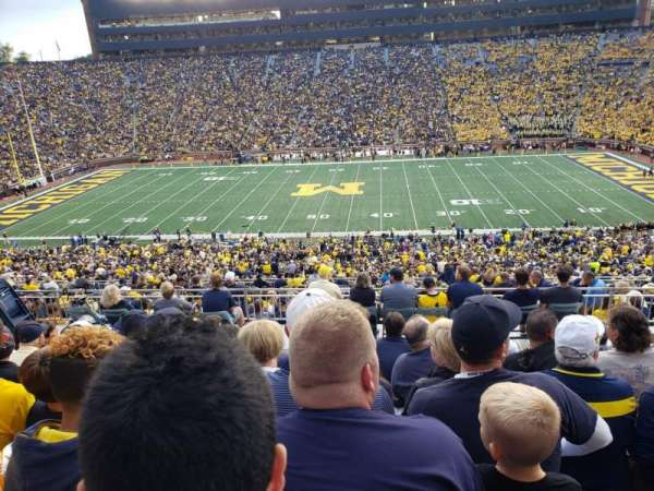 Michigan Stadium, section: 44, row: 82, seat: 1